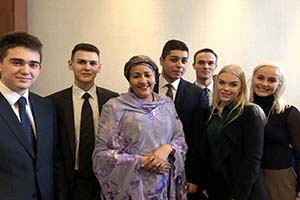 Meeting with Amina Mohammed